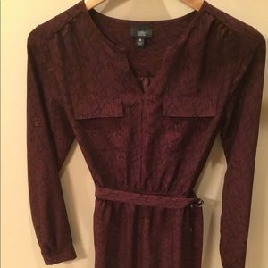 Mossimo Belted Long Sleeve Dress